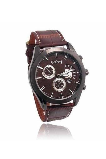 Ormano - Jam Tangan Pria - Coklat - Strap Kulit - Brown Observer G-Watch