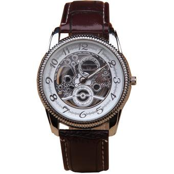 Ormano - Jam Tangan Pria - Coklat - Strap Kulit - S-Machine Exclusive Watch