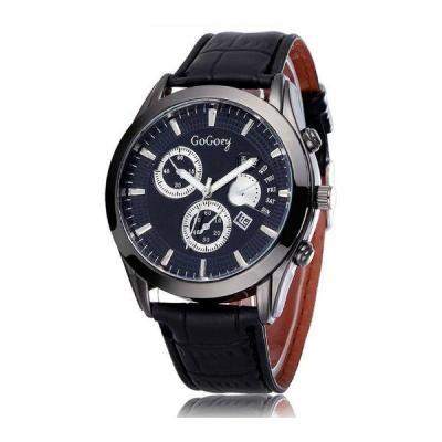 Ormano - Jam Tangan Pria - Hitam - Leather - Black Observer G-Watch
