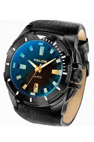 ... Police Gear PL14420XSB 02 Jam Tangan Pria Leather Strap Black