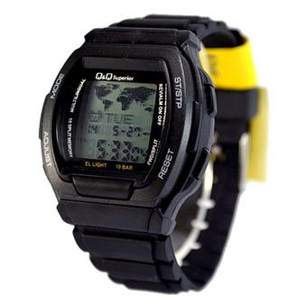 Harga Q Q Jam Tangan Pria Digital Data Original Strap Resin MMW3 ... b22081a489