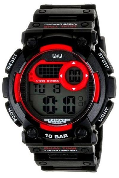 Q&Q - M141J001Y - Digital Original Watch - Jam Tangan Pria - Tali Karet - Hitam