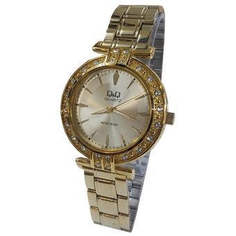 Q&Q Q985J001Y-P Jam Tangan Wanita Stainless Steel Gold