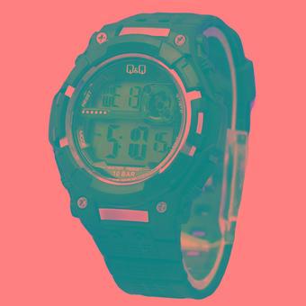 Q&Q Sport Digital - Jam Tangan Pria - Rubber Strap Hitam - M127
