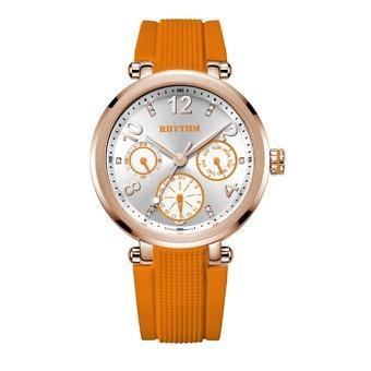 Rhythm F1502R 04 - Jam Tangan Wanita - Silicon - Orange
