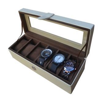 Harga Rumah Craft Kotak Jam Tangan Isi 6 - Biru Benheur - PriceNia.com 9d5f90ac91