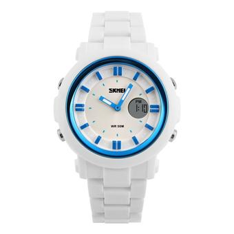 SKMEI Casio Women Sport LED Watch Water Resistant 50m - AD1062 - White