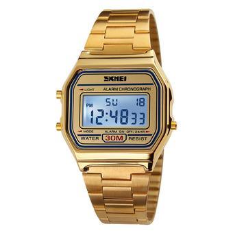 SKMEI Cool Digital Men Women Bussiness Wristwatch Luxury Vintage Luminous Couple Watch 3ATM Water-resistant