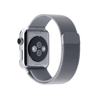 Stainless Steel Strap Strong Magnet Lock Watch Band for Apple Watch 42mm in Black - Intl