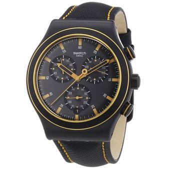 Swatch - Jam Tangan Pria - Hitam - Rubber Hitam - YVB400