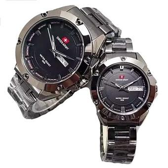Swiss Army Couple - Stainless Steel - Black - SA1570-Black Couple
