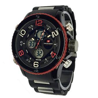 Swiss Army Dual Time - Jam Tangan Pria - Leather Strap - Rubber Strap - SA