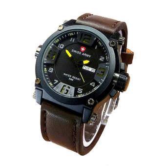 ... Swiss Army Jam Tangan Pria Leather Strap SA 404DB Kuning