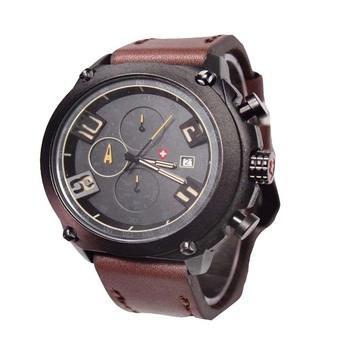 Swiss Army Jam Tangan Pria - Leather Strap - SA 4076 DB
