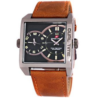 Swiss Army Man Dual Time Nightracer - SA 0440 - Cokelat