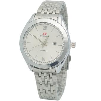 Swiss Army SA1113FSH Tanggal Jam Tangan Wanita stainless steel silver Putih