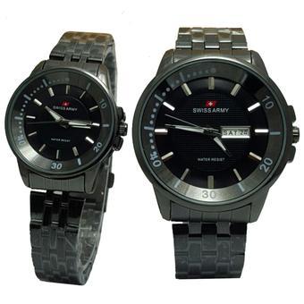 Triple Time Leather Strap Sa 64r32 Source Tetonis . Source · Swiss Army . Source · Swiss Army Tanggal Hari SA0968B Jam Tangan Couple Stainless Steel Hitam