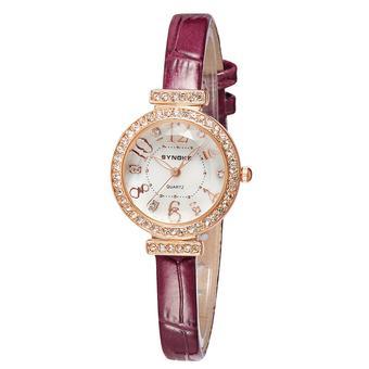Jam Tangan Pria Seiko SNAE80 Strap Kulit Hitam. Source · Synoke Fashion Casual Diamonds Women
