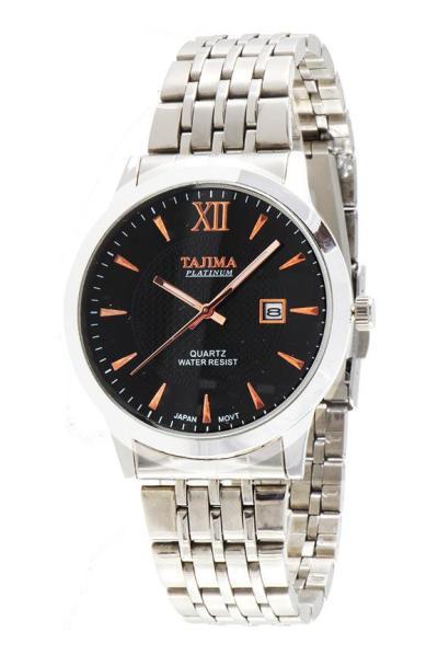 Tajima Analog Watch Date 5024 G-A05 - Jam Tangan Pria - Black - Stainless
