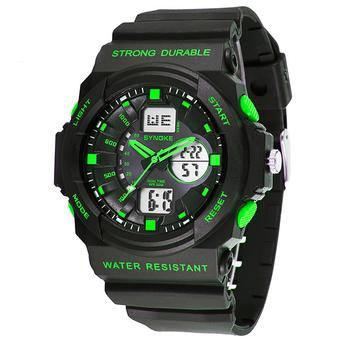 Top Men Watches Luxury Brand Men's Quartz Hour Analog Digital LED Sports Watch Men Army Military Wrist Watch (Intl)