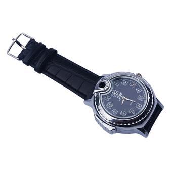 Tope Jam Tangan Korek Api Gas Watch Lighter - Perak