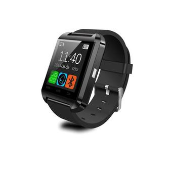 U8 Bluetooth Smart Wrist Watch Phone Mate for Android and IOS iPhone Samsung LG Sony (Black) (Intl)