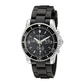 Victorinox Swiss Army Mens Maverick 241696 Black Rubber Swiss Quartz Watch (Intl)