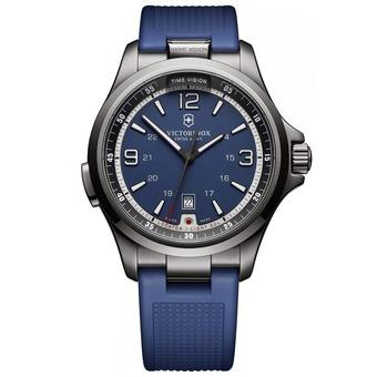 Victorinox Swiss Army Mens Night Vision 241707 Blue Rubber Swiss Quartz Watch (Intl)