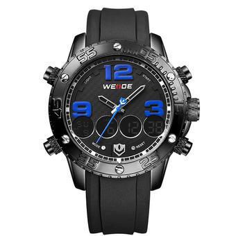 Harga WEIDE Mens Sports Dual Time Watch Alarm Stopwatch