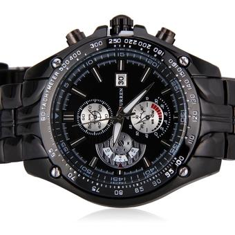 Waterproof Curren Chronometer Watch Black (Intl)