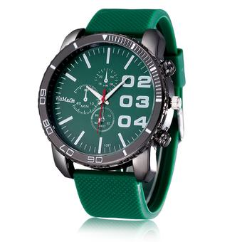 WoMaGe Men's Sports Fashion Watches Silicone Strap Green Green 222803