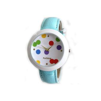 Womens Wrist Watches Ladies Faux Leather Quartz Analog Bracelets New Blue