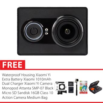 Xiaomi Yi International Version Combo Extreme - Hitam + Gratis Paket Hadiah