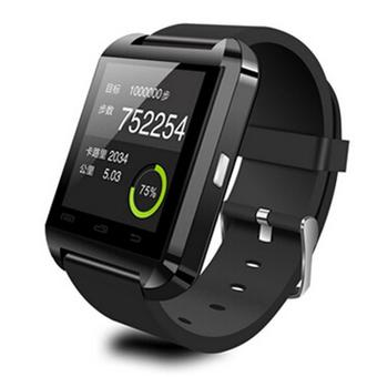 Yason Waterproof Bluetooth Wrist Smart Watch Phone Mate Handsfree Call For Smartphone Outdoor Sports Pedometer Stopwatch (Black) (Intl)