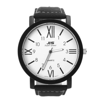 Yika Lover Stainless Steel Leather Band Quartz Wrist Watch (White) (Intl)