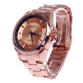 ZUNCLE Fashionable Men's Quartz Wrist Watch Simple Calendar - 1 x LR626 (Rose Golden)