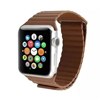 link bracelet For Apple Watch Leather Loop 38mm Adjustable Magnetic Closure strap For Apple Watch leather